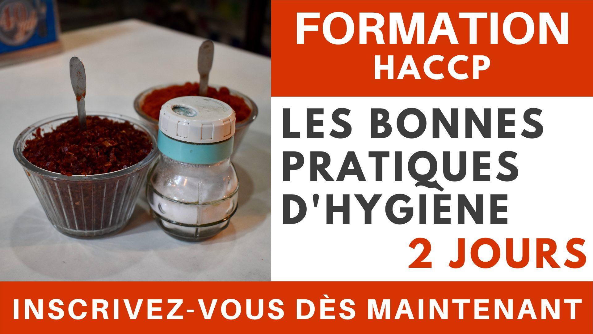 Formation HACCP - Les bonnes pratiques d'hygiène 2 jours